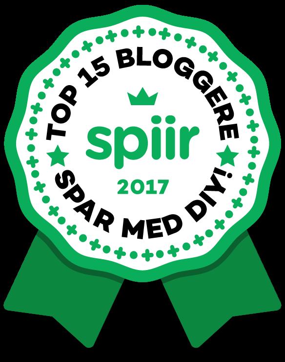 Stor badge Top 15 DIY bloggere kåret af Spiir