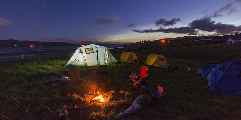 Campingferie i Danmark. Telttur og hvad det koster.