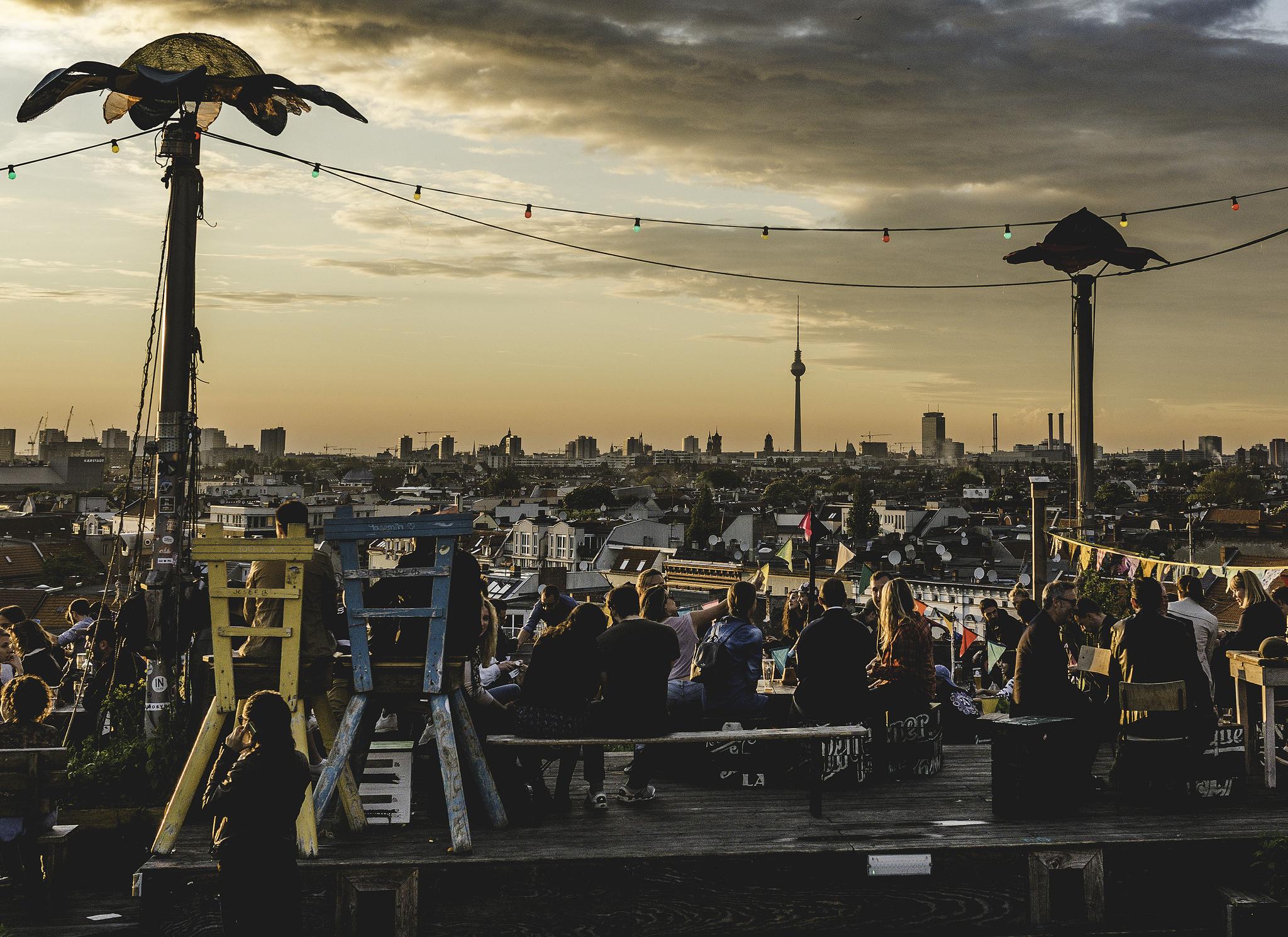 Fantastisk rooftop i Berlin Klunkerkranich
