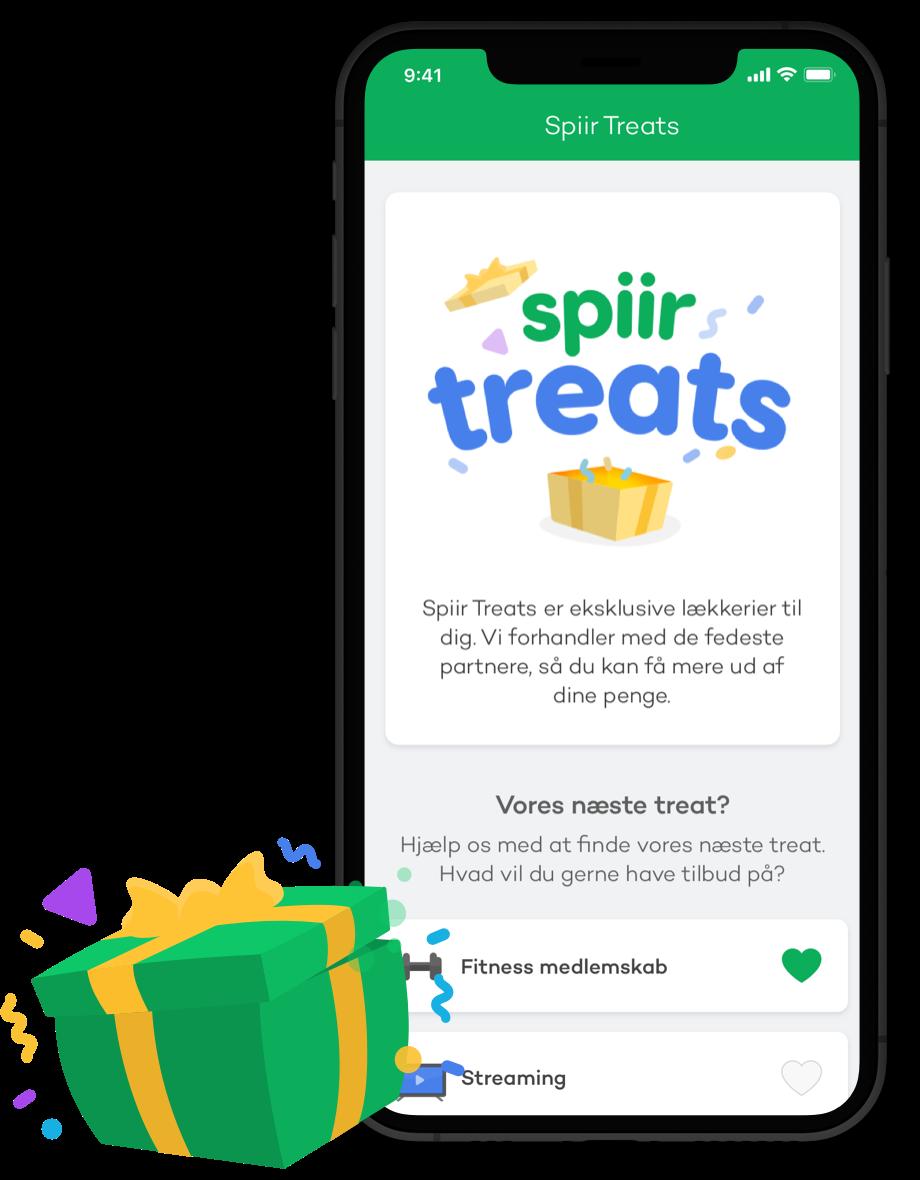 Skærmbillede af Spiir Treats i Spiir appen